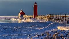 Lake Michigan Ice (Mi Bob) Tags: grandhavenpier winter2015