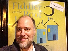 "Day 1057 - Day 327: @ SMT for ""Fiddler"" (knoopie) Tags: november selfportrait me theater doug 50thanniversary year3 picturemail fiddlerontheroof iphone 2014 day327 knoop 365days knoopie 365more 365daysyear3 seattlemusicaltheatre day1057"