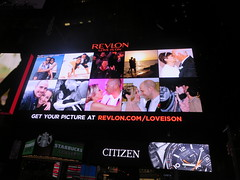 Ryan Janek Wolowski on the Revlon LOVE IS ON digital billboard in Times Square New York City for New Years Eve (RYANISLAND) Tags: nyc newyorkcity usa holiday ny newyork america us manhattan 14 broadway 15 american timessquare newyearseve newyeareve happynewyear 212 2014 2015 bway timessquarenewyork timessquarenyc timessquarenewyorkcity timessquareballdrop timessquareny areacode212