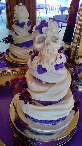 """A combination of a grooms cake and wedding cake. • <a style=""""font-size:0.8em;"""" href=""""http://www.flickr.com/photos/50891271@N03/16161893717/"""" target=""""_blank"""">View on Flickr</a>"""
