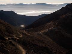 Mountain Path (blue polaris) Tags: park new summer sunrise landscape island volcano crossing north zealand alpine national nz tongariro