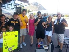 3tv anchor Karen Brown w/ ASU fans in Phoenix AZ (karenbrowntv) Tags: arizona brown 3 news phoenix az karen anchor channel cbs 3tv ktvk azfamily