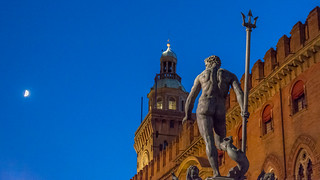 Neptune is staring at the moon- Fountain of Neptune, Bologna
