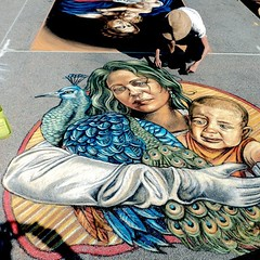 Vera Bugatti@Nel suo destino (Grazie 2012) (bugattivera) Tags: streetart chalk strada mantova di pavone madonnari artisti streetpainting assunta pavementart gessetti curtatone verabugatti