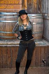 Steampunk Distillery - 2016 (thePhotographerRaVen) Tags: arizona woman beautiful hat fashion tucson fantasy beautifulwomen blonde corset wildwest steampunk wildwildweststeampunk photosbyraven wildweststeampunk tucsonsteampunk wwwc5