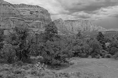 Rain on the mesa (thatoverallsguy) Tags: park arizona cliff rock digital landscape photography fuji outdoor hill grand canyon formation national fujifilm mountainside foothill crag x100 x100t