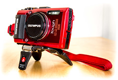 Olympus TG4 and Manfrotto pocket tripod. (CWhatPhotos) Tags: pictures new light shadow red closeup that photography still foto image artistic pics small tripod picture pic mini olympus images mount have photographs photograph fotos mounted strap pocket tough which folds folding contain waterproof manfrotto stillimage tg4 pockettripod cwhatphotos mp3bk olympustg4