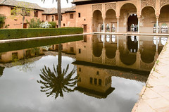 Court of the Myrtles (sillie_R) Tags: court garden pond andalucía spain palace andalucia alhambra granada palacios myrtles nasridpalaces courtofthemyrtles palaciosnazaries thenazridpalaces