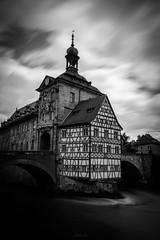 Bamberg - Altes Rathaus (->Hackstock<-) Tags: water germany deutschland blackwhite wasser long exposure bamberg sw franken fachwerk langzeitbelichtung frankonia