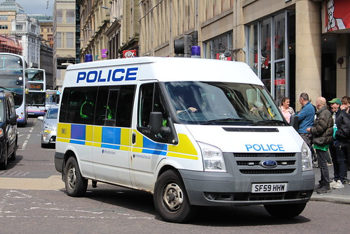 GLASGOW SF59 HHW FORD TRANSIT POLICE SCOTLAND