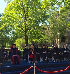 Lin-Manuel Miranda tweeting while with Amy Gutmann and all at Penn's 2016 Commencement (karenchristine552) Tags: usa philadelphia spring westphiladelphia pennsylvania graduation pa penn philly commencement westphilly universitycity universityofpennsylvania iphone linmanuelmiranda pennsgraduation linmirandatweeting