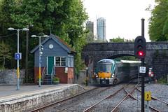 DMUTullamoreIreland5-16-16 (railohio) Tags: bridge ireland tower trains signal irishrail signalbox dmu tullamore s6000 iarnrdireann irishrailways 051616