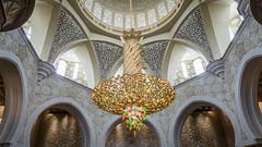 Chandelier (Bartholomew K Poonsiri) Tags: white building islam religion uae middleeast wideangle mosque structure abudhabi sheikhzayedgrandmosque sonyepz1650mmf3556oss sonyilce6000