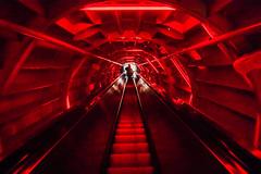 Space ship corridor (Falcov) Tags: rouge design belgium belgique bruxelles brussel atomium bruxel falcou falcov
