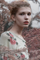 Spring Melody (Anastasiia Staroselets) Tags: pink flowers portrait girl beauty rose spring natural modeling makeup portraiture blonde fashionportrait