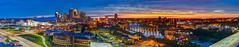 Ultimate Minneapolis (Greg Lundgren Photography) Tags: city pink sunset urban panorama yellow skyline architecture night river colorful cityscape magenta minneapolis mississippiriver wellsfargo twincities ids capella stonearchbridge 3rdavenuebridge greglundgren meetminneapolis onlyinmn exploremn usbankstadium