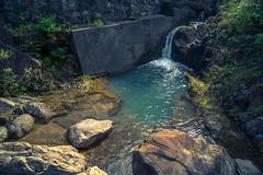 -Nectaring. (AllenPan02) Tags: stone river relax hongkong scenery stream sony falls brook     outskirt