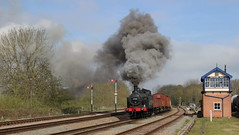 Oil burner (Duck 1966) Tags: train smoke goods steam locomotive swithland gcr jinty 47406 timelineevents