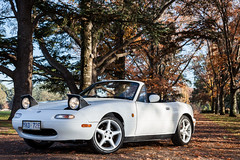 Mazda MX-5 Canberra (DrSchabbs) Tags: autumn white car automobile outdoor australia automotive canberra mazda act mx5 convertable australiancapitalterritory mazdamx5