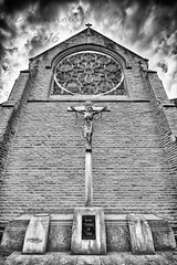 St Cuthberts Crucifix. (Jason Connolly) Tags: blackandwhite church mono monochromatic lancashire crucifix catholicchurch blackpool stcuthberts placeofworship holyplace churcharchitecture stcuthbertschurch