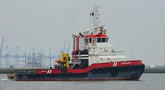 WATERLAND (kees torn) Tags: offshore tugs waterland nieuwewaterweg wb11 hoekvanholland wagenborg ahts rpa16 krve60 wagenborgbarge11