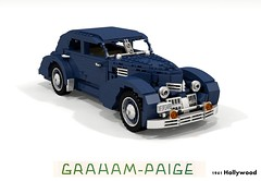 Graham 1941 Hollywood (lego911) Tags: auto usa classic car america sedan vintage cord model lego render paige 1940s chrome hollywood fabulous saloon graham forties challenge 103 1941 cad 812 acd lugnuts povray moc 810 ldd miniland foitsop lego911 thefabulousforties