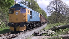 Class 26 038 'Tom Clift' northbound at Beck Hole [NYMR] (soberhill) Tags: diesel 26 class pickering grosmont nymr 2016 beckhole northyorkshiremoorsrailway 26038 scottishbranchlinegala