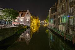 Gent Nacht (der-aus-jena) Tags: a6000 e1018mmf4oss flandern gent ilce6000 kraanlei nachtaufnahme pfingsten sel1018f4oss