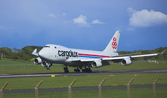 CLX LX-VCV (f33mac) Tags: blue sky green scotland aviation cargo landing luxembourg prestwick aiport ayrshire