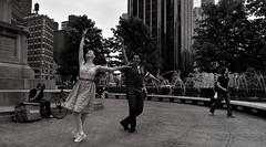 Dancing in Columbus Circle (B&W) (VMilian) Tags: nyc newyorkcity dancing manhattan streetphotography couples columbuscircle nikond3200
