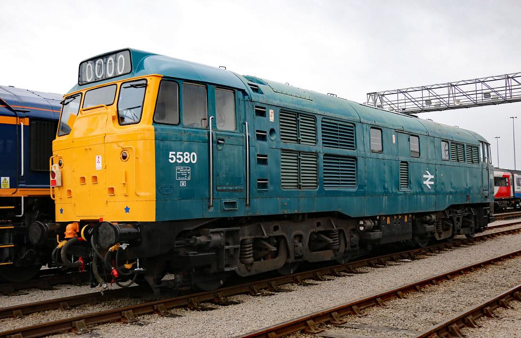 5580 / 31162 Brush Class 31 A1A-A1A, St Philips Marsh, Bristol (