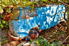 volkswagen T2 (riccardo nassisi) Tags: auto abandoned car rust rusty scrapyard wreck scrap wrecked ruggine relitto pavia rottame fornace epave abbandonata