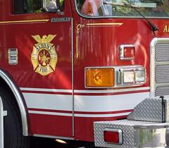 Fire Truck Detail (RockN) Tags: newyork firetruck albany fathersday washingtonpark albanyfiredepartment june2016