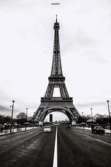 Eiffel Tower (mtudis) Tags: xt1 fujifilm fuji xf18135mm paris france eiffel tower torreeiffel torre bnw blackandwhite