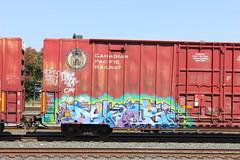 05312016 015 (CONSTRUCTIVE DESTRUCTION) Tags: train graffiti streak tag boxcar graff piece dekor moniker