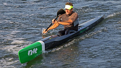 Surfski paddler at Vaxholm (Franz Airiman) Tags: summer kayak sweden stockholm paddle nitro scandinavia sommar nk vaxholm surfski stockholmsskrgrd sdravaxholmsfjrden nordickayaks