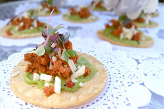 Tostadita De Chorizo Appetizers At Last Saturday's Wedding (SohoTaco.com) Tags: tacocatering tacocartcatering tacotruck foodtruck appetizers tostaditadechorizo wedding yuccavalley mexicanfood mexicancooking mexicancuisine
