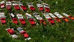 Numbering punching units for an orienteering competition (Helsinki, 20160605) (RainoL) Tags: 2016 201606 20160604 emit fin finland hakuninmaa helsingfors helsinki hkansker june kaarela krble lawn nyland orienteering orientering punching summer uusimaa suunnistus