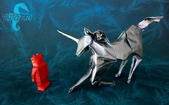 Submission (mitanei) Tags: animals paperart robot origami unicorn submission papierkunst mitanei origamiunicorn keepfoldingon origamirobot origamirobotunicorn