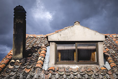 Rural sauna (fernando_gm) Tags: roof chimney espaa house color colour window rural 35mm tile ventana spain fuji village country fujifilm techo sepulveda chimenea teja