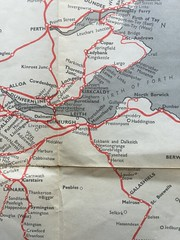Edinburgh and South East Scotland from a 1964 British Railways network map. (calderwoodroy) Tags: scotland fife map network railways lothians borders 1964 britishrailways scottishborders routediagram railnetwork britishrailwaysboard southeastscotland brroutemap railwaynetworkmap