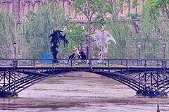 Paris Juin 2016 - 255 sculptures sur le Pont des Arts (paspog) Tags: sculpture paris france statue seine statues sculptures inondation crue pontdesarts inondations crues