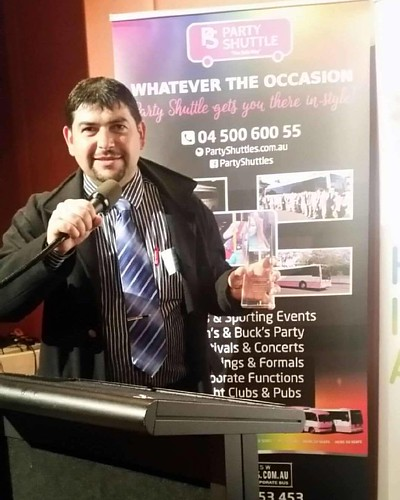 Party Shuttle receives an award at Affinity's iftar dinner at NSW Parliament House. #iftar #parliamenthouse