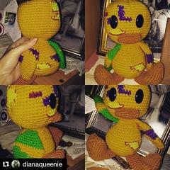 Little Zombie Duck Amigurumi  (Diana Queenie) Tags: handmade zombie crochet amigurumi handcraft haken hkeln virka virkkaus ganchillo hkling zombieduck hekle yarnaddict horgols crochetaddict instacrochet hckovn heklati