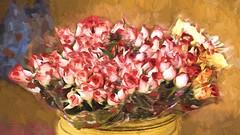 impasto roses (Pejasar) Tags: roses impasto color rosesinabucket sale flowers blooms paint art antigua guatemala