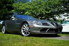 Mercedes-Benz SLR McLaren (Eric Flexyourhead (shoulder injury, slow)) Tags: canada slr car zeiss silver bc britishcolumbia convertible german mclaren mercedesbenz northvancouver roadster waterfrontpark mercedesbenzslrmclaren 2016 55mmf18 germancarfestival sonyalphaa7 zeisssonnartfe55mmf18za