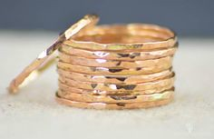 **Free Domestic Ship (alaridesign) Tags: free domestic shipping for all orders over 50 use coupon code shipfree50 super thin 14k rose gold filled ring these rings 8 each choose number you wa alari