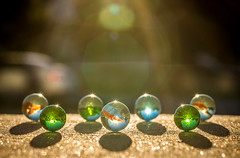 more marbles (auntneecey) Tags: light shadow colors colorful bokeh marbles