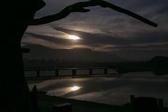 IMG_1654 (francois f swanepoel) Tags: atlanticocean atlantieseoseaan bridge brug kleinmond reflection sonsopkoms spielbeeld sunrise weskaap westerncape