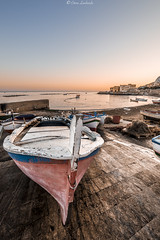 Aspra (PA) (ettorelomb) Tags: aspra sunrise boat beach palermo colors spiaggia sicilia sea barca italy